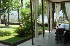 Breakfast area and garden Double Room, Private Room, B & B, Sidewalk, Villa, Sign, Breakfast, Garden, House