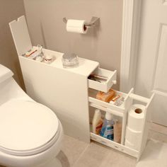 Space Saving Bathroom Floor Cabinet In White Wood Finish Bathroom U003e Bathroom  Cabinets Loluxe