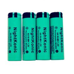 6 PCS/LOT  AA battery 1.2 V  NI-MH AA  Rechargeable Battery   NightKonic