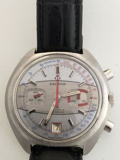 Stunning Vintage Racing Candino Chrono Stainless Steel Valjoux 7734 Mens Watch | eBay