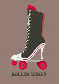Poster #illustration #rollerderby