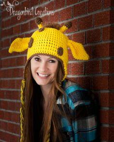 Need to learn to crochet :( Unpsychotic Giraffe Hat - free crochet pattern from dragonbirdcreations.
