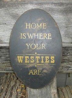 Home is my westie