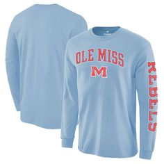 North Carolina Tar Heels Fanatics Branded Distressed Arch Over Logo Long Sleeve Hit T-Shirt - Light Blue Unc Apparel, College T Shirts, College Sweatshirts, Tar Heels, Colorful Shirts, Long Sleeve Shirts, T Shirts For Women, Sleeves, Mens Tops