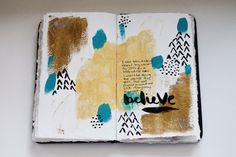 Art journal page for Get Messy Art Journal group