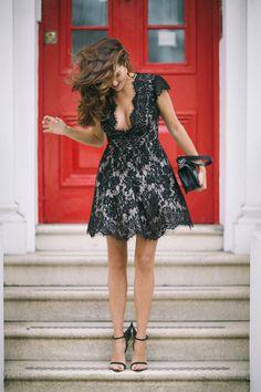 The Little Black Dress & The Little Black Book - The Londoner Cute Dresses, Short Sleeve Dresses, Summer Dresses, Stilettos, Perfect Little Black Dress, Little Black Books, Lace Dress Black, Only Fashion, Elegant Outfit