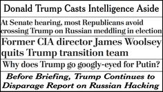 """""""NEVER"""" trump ~Abbreviated pundit roundup: Donald Trump continues to attack the intelligence community"""