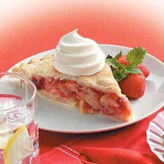 Strawberry Apple Pie.... My mom used to make this when I lived at home and it is SOOOOOO GOOD!!!