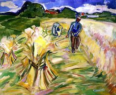 bofransson:  Reaping the Corn Edvard Munch - 1917-1923