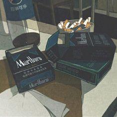 ☠️Someday cigarettes will ruin me☠️ dead dead dead Aesthetic Images, Retro Aesthetic, Aesthetic Photo, Aesthetic Anime, Aesthetic Pastel Wallpaper, Aesthetic Wallpapers, Old Anime, Anime Art, Japon Illustration