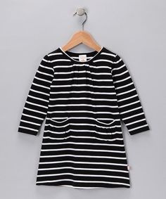 Take a look at this Black & White Stripe Organic Dress - Infant & Toddler by Nosilla Organics on #zulily today!
