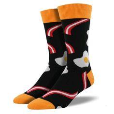 Novelty Socks Bacon 'N Eggs Black Novelty Socks