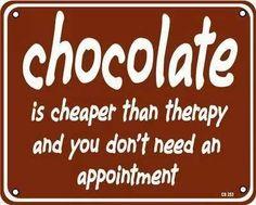 Jajaja thanks to chocolate!!