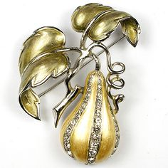 MB Boucher Metallic Enamel Gourd Pin. From trifari.com.