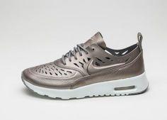 Air Max Thea Joli metallic cutout textured leather sneakers