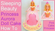 How to Make a Princess Aurora Doll Cake - Disney's Sleeping Beauty Cake ...