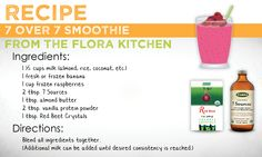 The perfect smoothie...love 7 Sources and Red Beet Crystals!