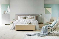 Avara sisustus ja vivahteikas värimaailma makuuhuoneessa. #etuovisisustus #makuuhuone #vepsäläinen