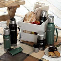 Buy Stanley Classic Vacuum Flask, Hammertone Green, from our Flasks range at John Lewis & Partners. Stanley Vacuum, Stanley Thermos, Drip Coffee Maker, Coffee Cups, Camping Gifts, Camping Glamping, Safari Wedding, Vacuum Flask, Sous Vide