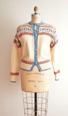 O. Allers Nilssen Sweater // Vintage Nordic cardigan