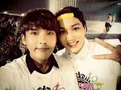 ryeo wook  and dance machine~kai