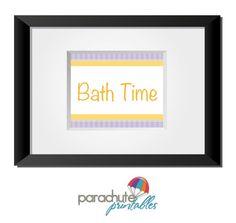Bath Time - Printable Word Art. $5.00, via Etsy.