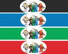 Ninjago Water Bottle Labels