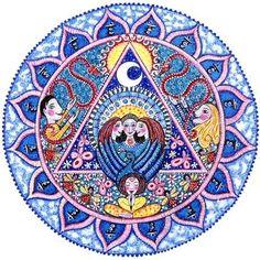 5e chakra Art Mandala carte Vishuddhi Chakra art par LindyLonghurst