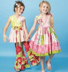 Chelsea Andersen Children Girls Top Dress Pants Patterns McCalls 6497