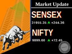 The Sensex closed up 244.36 points at 31955.35, while the Nifty ended up 74.75 points at 9901.90.