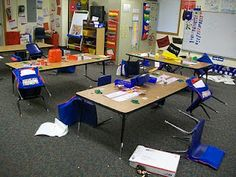 EEK! Looks like a little leprechaun visited this classroom! To see more St. Patrick's Day ideas visit the blog post!