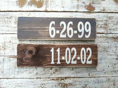Custom date sign | Jane