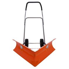 Snow Shovel Wheeled Big Plow Pusher Ergonomic Wide Best Heavy Duty Snowplow Tool #SnowShovel