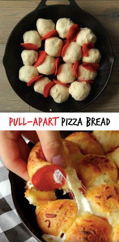 DIY Pull-Apart Pizza Bread I want to cry watching the tutorial