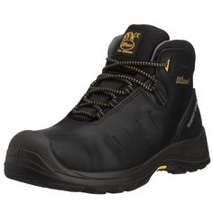 Mens Boulder S3 Safety Boots Black AMG011 8 UKGrisport