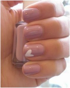 Nude or light pink nails are so classy