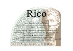 Rico, Richard - Firstnamestore