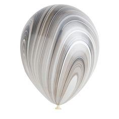 Marble Balloons - Black & White