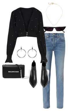 """""""Sans titre #934"""" by el-khawla ❤ liked on Polyvore featuring Balenciaga, RE/DONE, For Love & Lemons, Acne Studios and Sophie Buhai"""