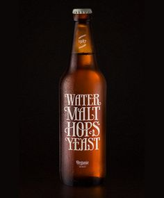 Water, malt, hops and yeast. Beautiful beer label design by Simon Ålander. Web Design, Graphic Design, Graphic Art, Form Design, Grid Design, Beer Brewing, Home Brewing, Foto Still, Beer Label Design