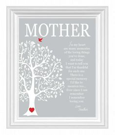 Mothers Day From Daughter Mom Poem Typographic Print
