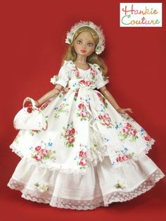 Vintage lace dress was made from a stunning vintage fabric with wonderful details: tiny pin tucks, white scalloped lace, hand crinkled ribbons Small white flowers and Big floral flowers!