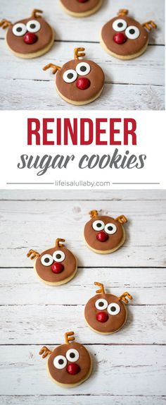 Reindeer Sugar Cookies