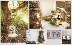 Lauren Sharon Vintage Shop Rentals - Home  Secret Garden, wedding, romantic, sweet, cream, blush, neutrals