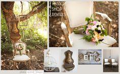 Lauren Sharon Vintage Shop Rentals - Home  Secret Garden, wedding, romantic, sweet, cream, blush, neutrals