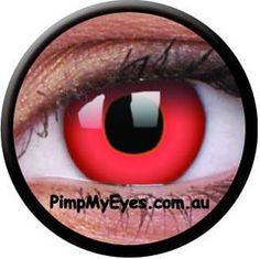 Red Devil Crazy Contact Lenses Pair - PimpMyEyes.com.au | PimpMyEyes