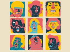 Orgasmic Faces designed by murat kalkavan. Connect with them on Dribbble; Graphic Design Illustration, Digital Illustration, Graphic Illustration, Graphic Art, Deer Design, Design Art, Bullet Art, Exhibition Poster, Posca