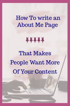 How to Write an About Me Page - Maree Kathleen Blog Writing Tips, Writing Advice, Writing Help, Writing A Book, Writing Ideas, Writing Skills, Creating A Business, Business Tips, Online Business