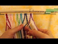 """This video is about SprangTwining, crossing diagonal lines on a background of interlinking. It is the second of two videos. The first video is called """"Sprang..."""