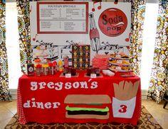 "Birthday ""Greyson's Hamburger Themed 3rd Birthday"" | Catch My Party"